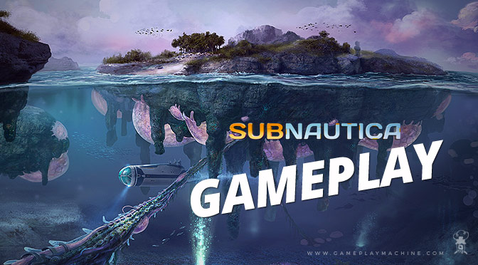 Subnautica gameplay. The Floating Island