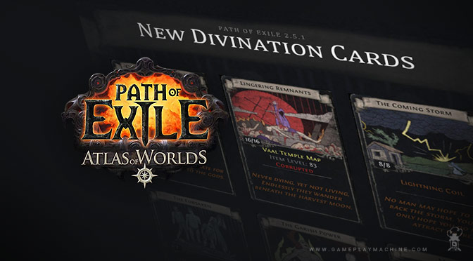 PoE Path of Exile Divination Cards, div card