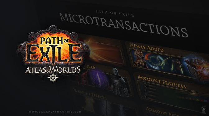 PoE Path of Exile microtransactions poe shop gameplaymachine.com
