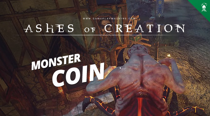 Ashes of Creation - Monster Coin System. AoC MMORPG sandbox open world