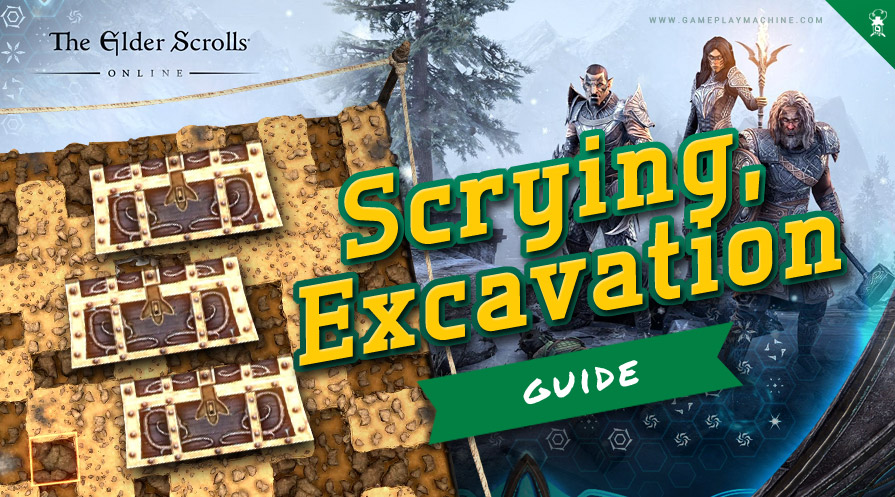Elder Scrolls Online ESO Greymoor Ultimate Guide how to level fast scrying and excavation