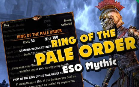 ESO new mythic item Ring ot the Pale Order Elder Scrolls Online mythics scrying Excavation Antiquities. How to get the pale order ring