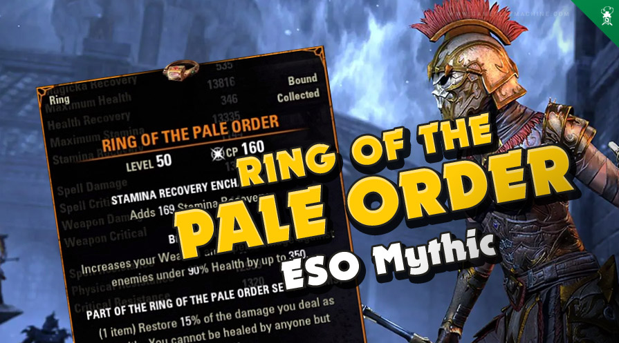 ESO new mythic item Ring ot the Pale Order Elder Scrolls Online mythics scrying Excavation Antiquities