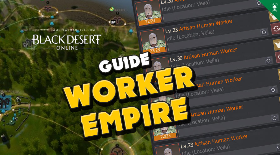 Black Desert workers nodes empire passive income, BDO worker empire silver passively