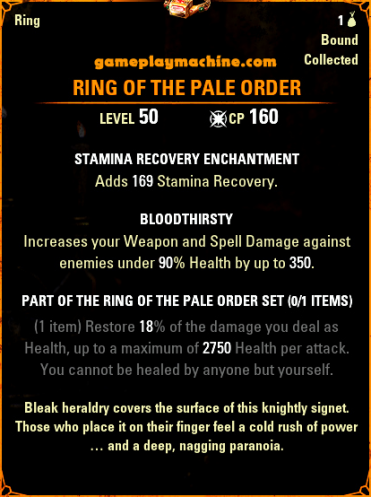 Elder Scrolls Online ESO Ring of the Pale Order mythic new ring DLC Markarth Lead Locations
