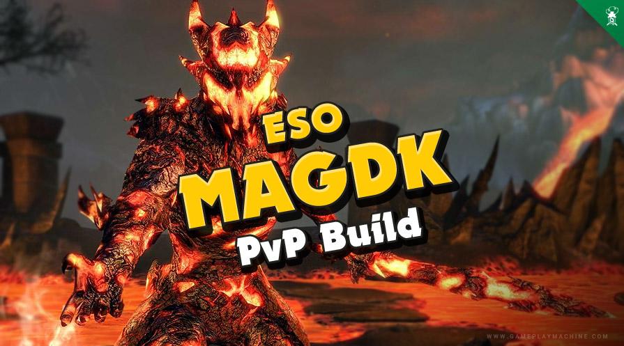 ESO - Markarth MagDK PvP Build Magicka Dragonknight TESO Elder Scrolls Online / 1vX dps magdk magicka DK