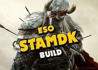ESO Elder Scrolls Online Stamina Dragonknight StamDK PvP Build Guide