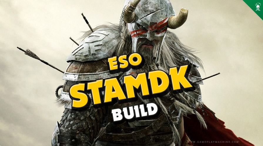 ESO Elder Scrolls Online Stamina Dragonknight StamDK PvP Build Guide