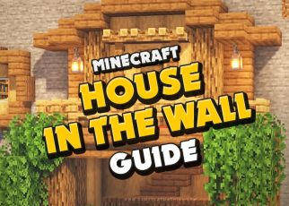 MINECRAFT tutorial guide how to build HOUSE in the wall, Small house building, impressive, cozy