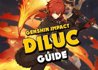 Genshin Impact - Diluc COMPLETE guide, Crimson Witch of Flames, The Best team for Diluc. Best 4-star Weapon for Diluc, best 5star Diluc, Diluc Best Weapons in Genshin Impact