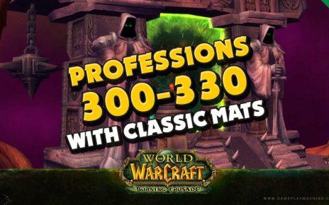 Burning Crusade professions guide 300-330 TBC using classic mats, gold making burning crusade wow