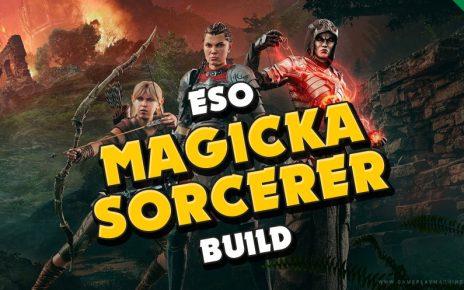 TESO Sorcerer Build, ESO Sorc, Magsorc, TESO Sorcerer guide, PvE PvP Sorc build
